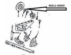 estopera original punta de eje delantera toyota hilux 96-05