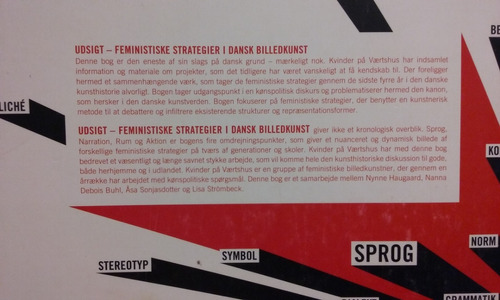 estrategias feministas en el arte visual danés  inglés-danés