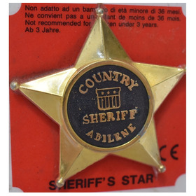 Estrela De Xerife - Metal - Country Sheriff - Forte Apache