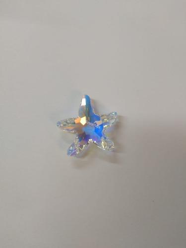 estrela do mar cristal swarovski 2,8 cm aurora boreal