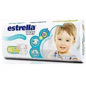 Estrella Baby Hiperpack Talle Xg X 36 Pañales De 12 A 15 Kg