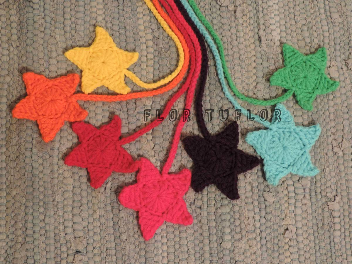 Estrella Crochet - Colgante Señalador - Ideal Para Souvenirs - $ 59 ...