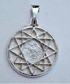 347139496ddc Estrella De 12 Puntas   Amuleto De Protección Plata Ley 925