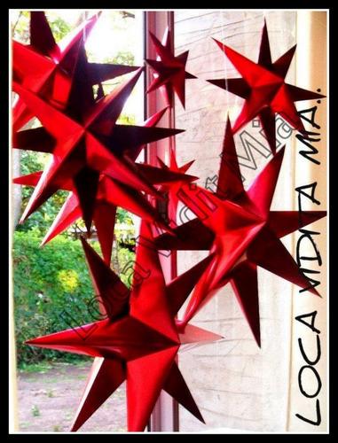 estrella de belen 60 cm en papel rigido - loca vidita mia