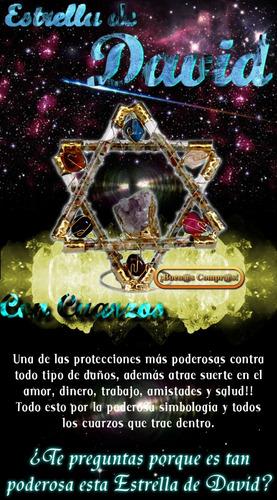 estrella de david en cristal y cuarzos