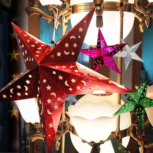 estrella holografica de papel 30cm. effa´s party