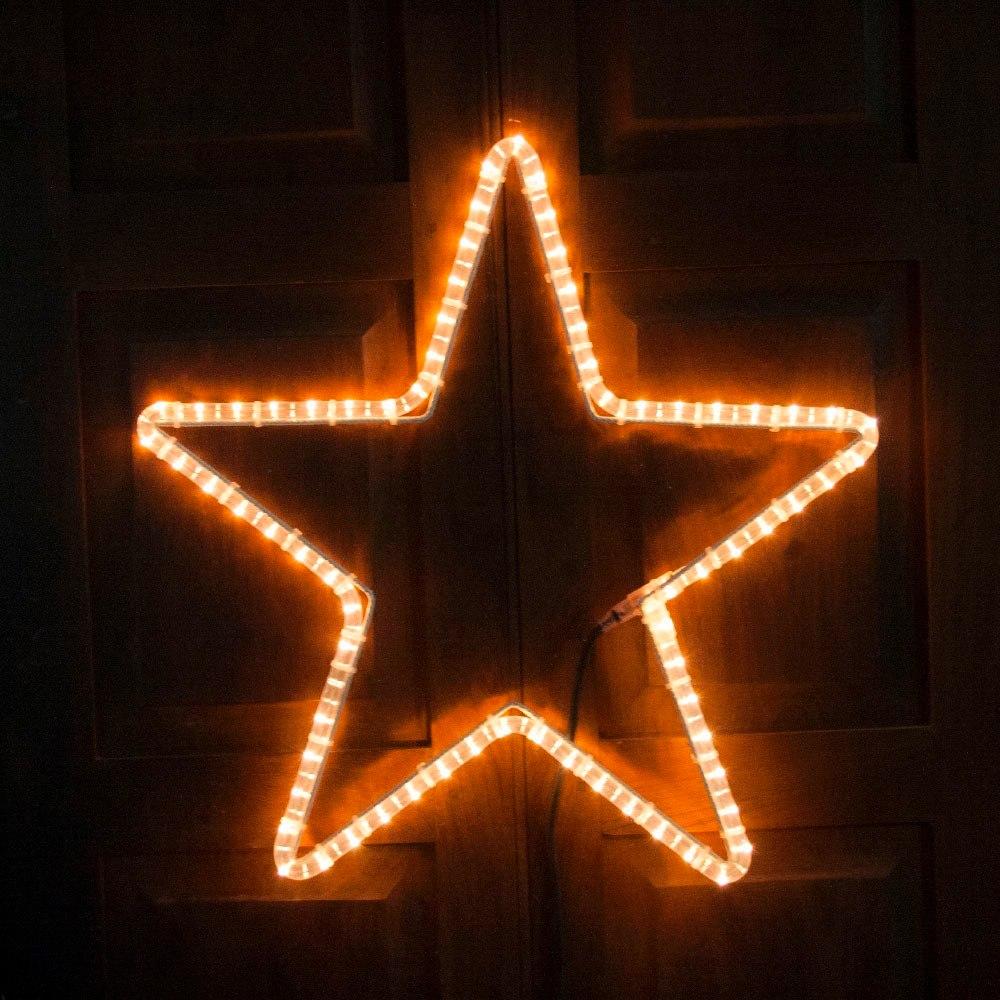 estrella luminosa cm manguera luces luz exterior navidad