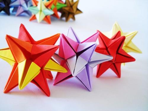 estrella papel origami souvenirs nacimientos cumpleaños boda