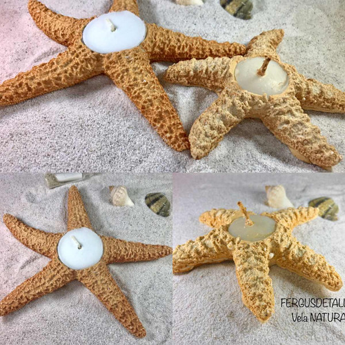 estrellas de mar para decorar bodas artificiales vela grande