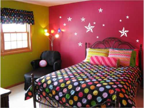 Estrellas nauticas en vinyl para decorar tu recamara for Pared de habitacion decorada
