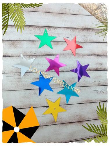 estrellas planas deco souvenir candy bar invitacion x10u