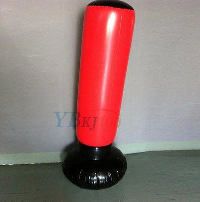 estrés inflable 160cm torre bolsa boxeo libre base de agua +