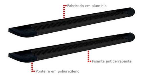 estribo lateral alumínio preto pajero tr4 2004 até 2014