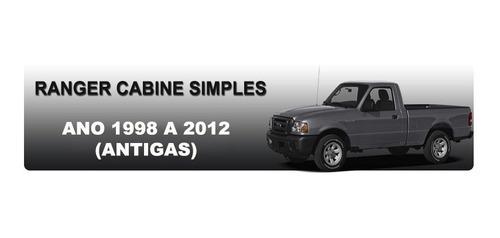 estribo plataforma aluminio ranger cabine simples 1996  2012