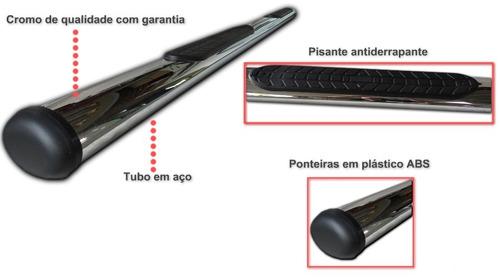 estribo tubular oblongo cromado l200 triton dupla 2008 2016