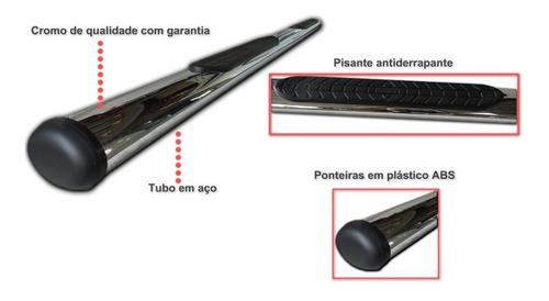 estribo tubular oblongo cromado para ssangyong actyon