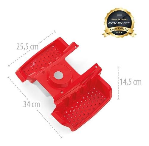 estribo vermelho - politractor® - 7683