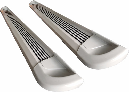 estribos aluminio blanco g2 bepo para chevrolet s10 2012+