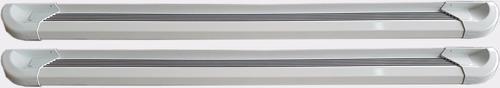 estribos aluminio blanco g2 bepo para frontier 2017+