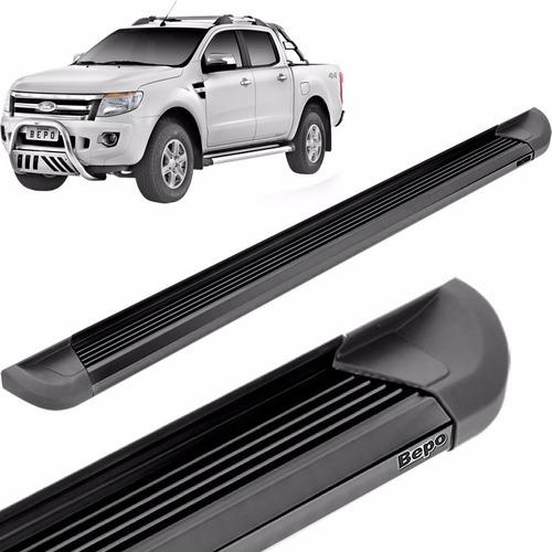 estribos aluminio g2 negro bepo p/ ranger 2013 2018 2019