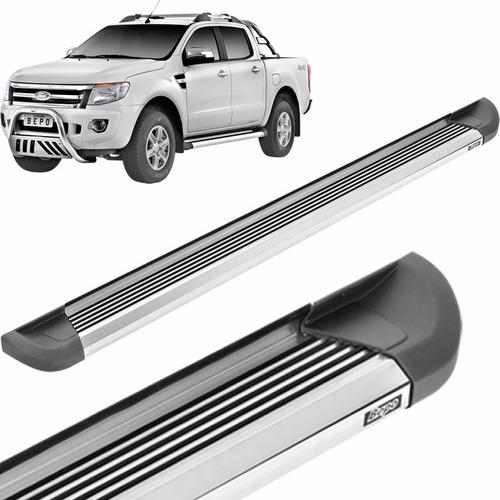 estribos aluminio pesado pulido bepo para ford ranger 2013+