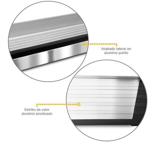estribos aluminio pulido g3 bepo p/ ford ranger 2013 a 2019