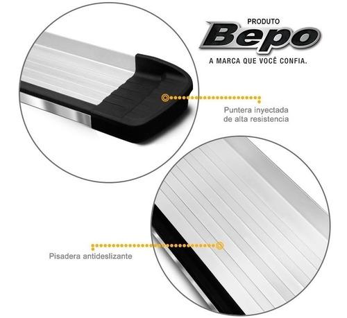 estribos aluminio pulido g3 bepo p/ toyota hilux 2005 a 2015