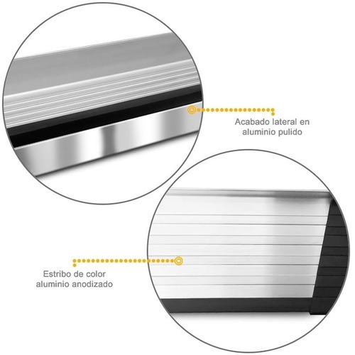 estribos aluminio pulido g3 bepo para ford ranger 2013+