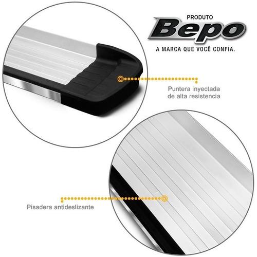 estribos aluminio pulido g3 bepo para toyota hilux 05/ 2015