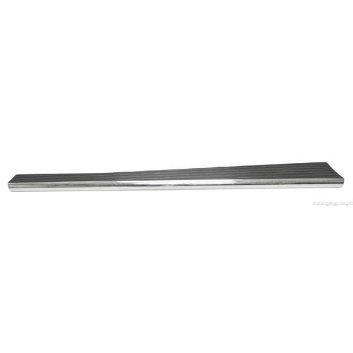 estribos de aluminio billet negro filos pulidos empi