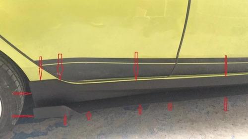 estribos ford fiesta hb / sedan - 4 piezas