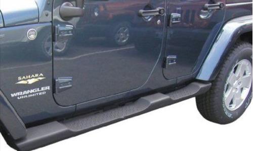 estribos jeep wrangler rubicon 2007-2017 4 puertas mopar