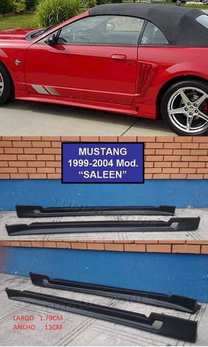 estribos laterales mustang saleen 99 00 01 02 03 04