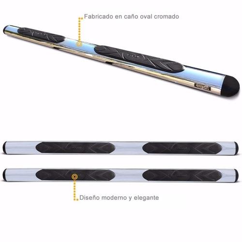 estribos maxi oval cromado bepo para toyota hilux 05 / 2015
