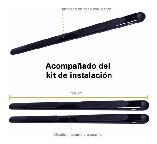 estribos oval negro bepo p/ toyota hilux 2005 2010 2015