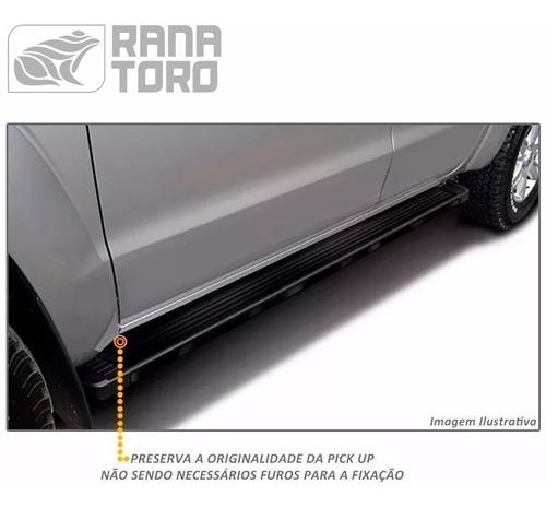 estribos para ford ranger 12+ aluminio negro g3 bepo