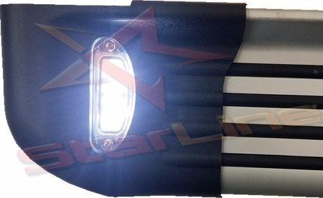 estribos planos aluminio con luz chevrolet luv dmax