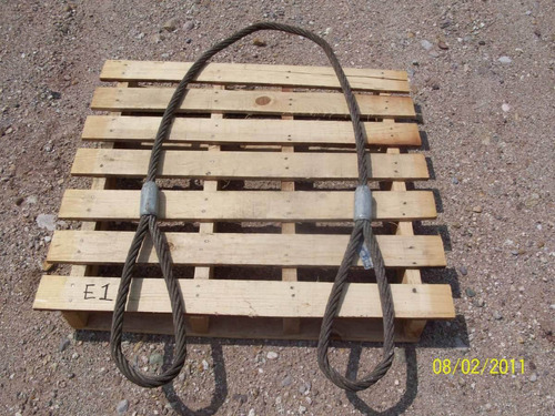 estrobo de cable de acero para maniobras de carga