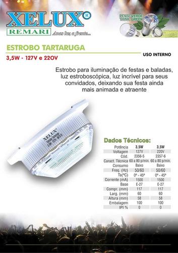 estrobo tartaruga de 3,5w em 127v kit com 18 peças