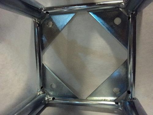 estructura 20x20 1 2 3 mts escenario luces acero galvanizado