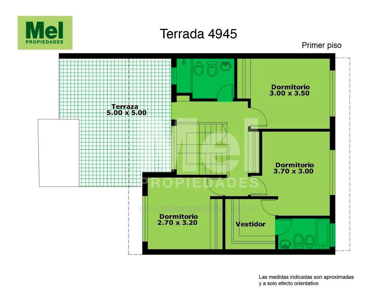 estructura de casa a completar en lote de 8.66 x 43.21