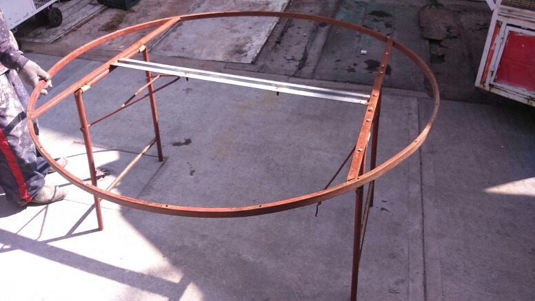 Estructura de mesas plegables para eventos para reparar - Estructuras para mesas ...