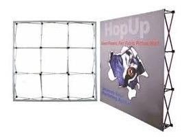 estructura muro banner de aluminio $3,200