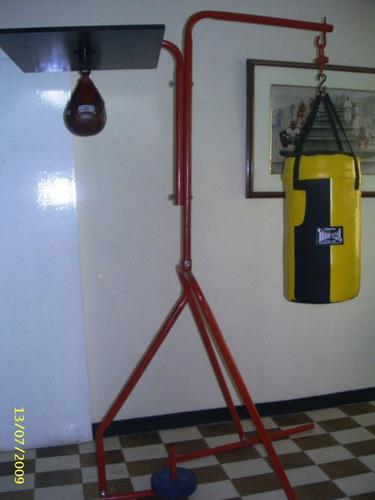 estructura para saco y pera de boxeo. tropical