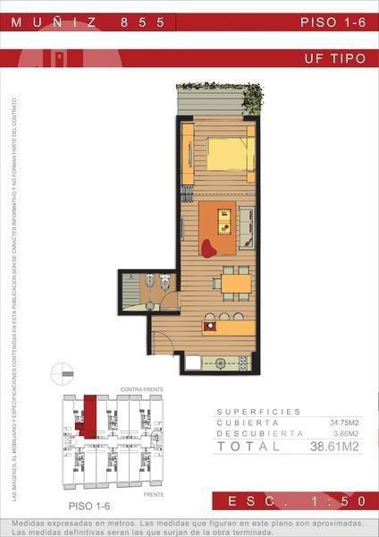 estructura triple frente hasta el 4to piso