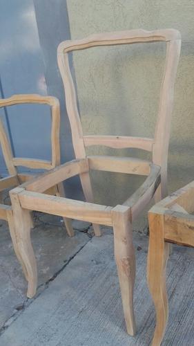 estructura/esqueleto modelo luis xv estilo francés. realizadas en madera de guindo. somos fabricantes directos. consulta