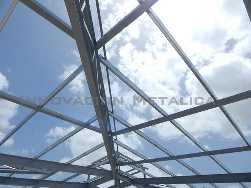 estructuras metálicas, naves industriales, aluzinc, techos.