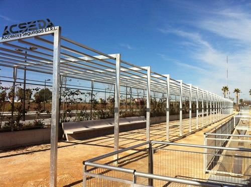 estructuras metálicas para techo parabólicos, voladizos
