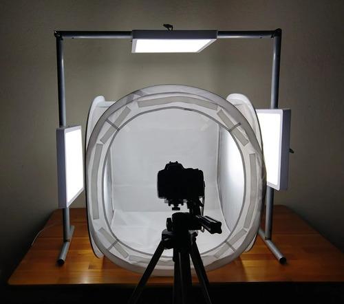 estrutura dobrável de iluminação led softbox foto de produto