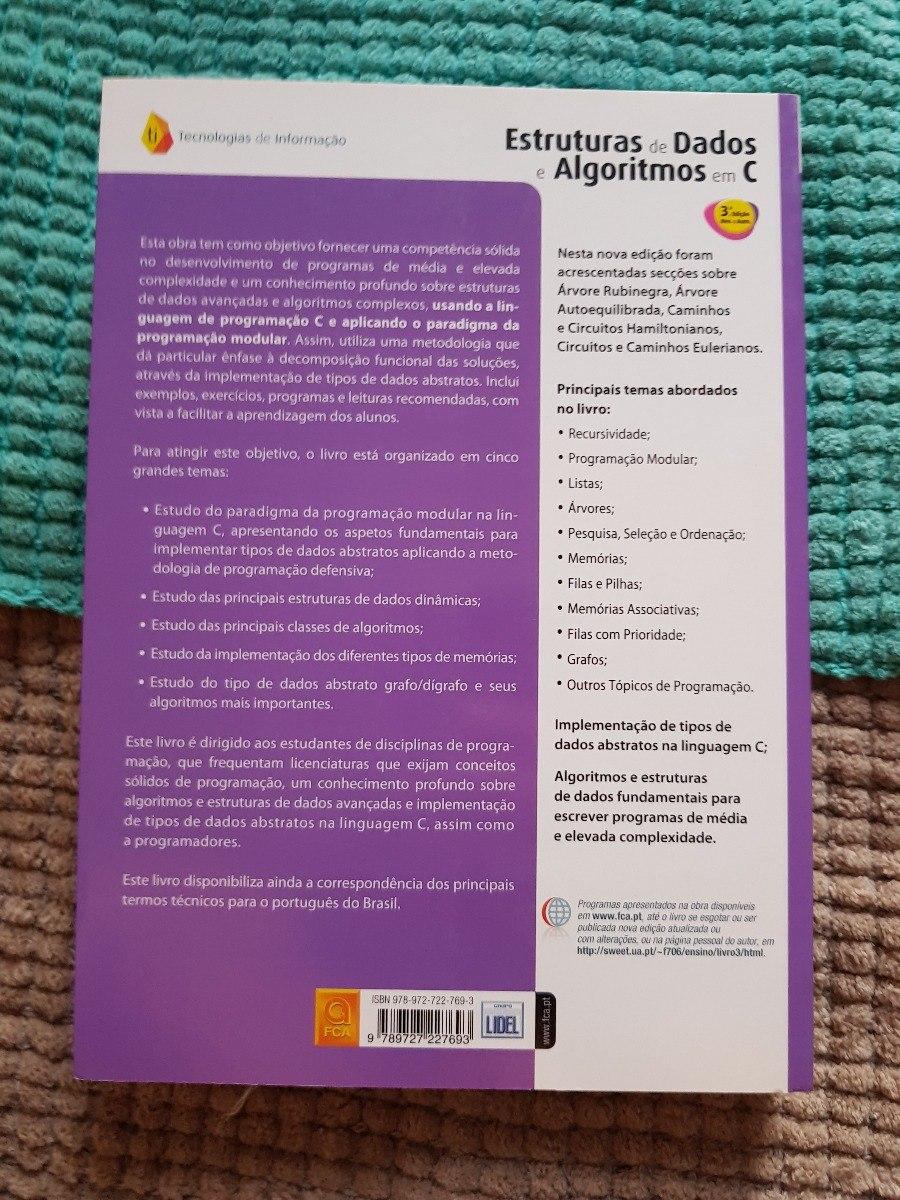 Estruturas De Dados E Algoritmos Em C - R  125,00 em Mercado Livre 1b1751104b